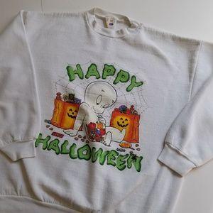 Vintage | Happy Halloween Trick Or Treating Ghost